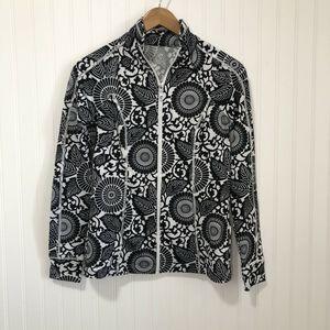 Andrea Jovine Quick Dry Black White Floral Jacket